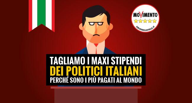 M5s sul blog italiani pi pagati al mondo li tagliamo agv for I parlamentari italiani